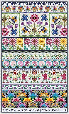 Sampler by long dog designs.  I will do this.  One day.