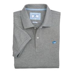 Heathered Skipjack Polo #southerntide #polo #beauoutfitters #shoponline