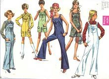 Simplicity 8178 Vintage 1960s Sewing Pattern, Bell Bottom Bib Overall style Jumpsuit, size 12