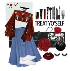 """""""treat yourself"""" by ginasofi on Polyvore featuring Emanuel Ungaro, Joomi Lim, NYX, Chanel, NARS Cosmetics, Allies of Skin, Valentino, Rodial, Burberry and keds"""