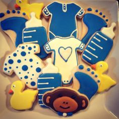 Decorated sugar cookies - Baby Shower Cookies - available at Www.etsy.com/shop/sugarcookies.com #decoratedsugarcookies #babyshower #favors #yum