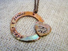 Forever and Always hand stamped necklace by ChristinesImpression, $30.00