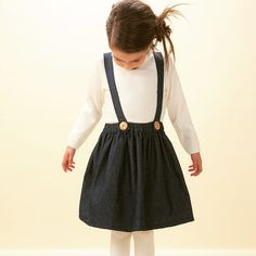 Dungaree skirt from Milou & Pilou SS15 www.milouandpilou.com #milouandpilou #dungaree #vintage #children #fashion