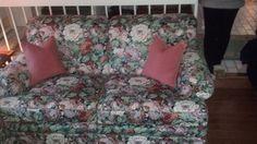 Ethan Allen Floral Fabric Love Seat #EthanAllen