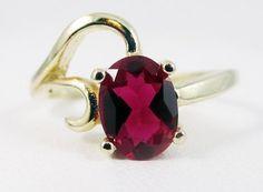 Ruby Gemstone Solid Gold Ring Handmade Custom