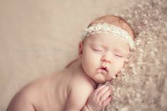 Baby Headband Newborn Photo Prop Baby Girl by ItsyBitsyBlooms, $14.00