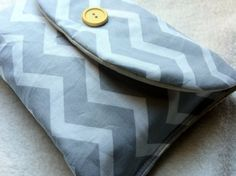 Grey and White Chevron Diaper Clutch for diapers & wipes, etc. by peaceloveandbabyshop, $9.00