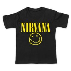 Kids Nirvana Smiley T-Shirt - available for worldwide delivery from online kids store www.alittlebitofcheek.com.au