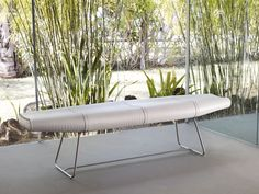 Carey bench features carbon steel frame with crocco leather or synthetic hair seating. Measures 72 x 19 x 18. Available in multiple colors. Made in Brazil. Imported.