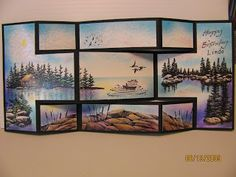 Trish's Artistic Adventures: Search results for Lakeside view Tri Fold Cards, Fancy Fold Cards, Folded Cards, Trifold Shutter Cards, Lakeside View, Scrapbook Cards, Scrapbooking, Nautical Cards, Owl Card
