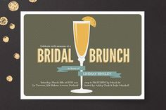 Minted Fresh Mimosa Bridal Shower Invitations, $47, available at Minted