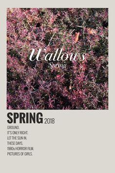 Alternative Minimalist Music Album Polaroid Poster- Spring by Wallows 2018 Vintage Music Posters, Vintage Movies, Minimalist Music, Music Collage, Iconic Movie Posters, Alternative Movie Posters, Alternative Music, Movie Prints, Minimal Poster