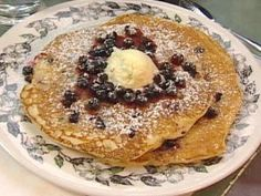 Huckleberry Pancakes : Recipes : Cooking Channel.  Yum!