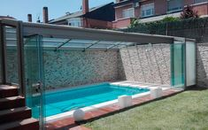 Swimming Pool Enclosures, Small Swimming Pools, Small Backyard Pools, Backyard Pool Designs, Small Pools, Swimming Pools Backyard, Swimming Pool Designs, Pool Indoor, Outdoor Pool