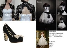 My Black&White wedding inspirations :) Shoes - lola ramona angie, you can buy them online. White dress is only for showing the lenght of my black and white dress