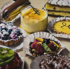 Hyper-realistic food paintings by Ben Schonzeit