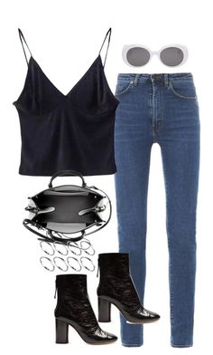 """""""Untitled #1808"""" by breannaflorence on Polyvore featuring Yves Saint Laurent, Isabel Marant, Balenciaga and ASOS"""