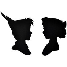 2 Peter Pan and Wendy Silhouette Temporary Tattoo, various sizes... (£1.57) ❤ liked on Polyvore featuring accessories and body art