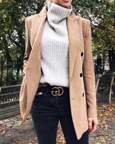 Stylish Winter Outfits with Blazer Inspiration fashion . - Stylish Winter Outfits with Blazer Inspiration fashion week street style,f - Look Blazer, Casual Blazer, Blazer Outfits, Dress Outfits, Tan Blazer, Blazer Jacket, Dress Shoes, Shoes Heels, Prom Dresses