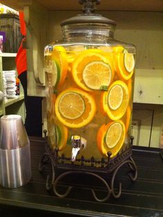 JOCOmoms.com held a Launch Party for their business this past month and had created a Citrus Mint Spa Water for their guests to enjoy. This eye-catching display was definitely a conversation piece ...