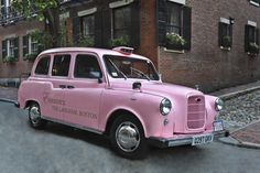 Pink Taxi at The Langham, Boston Taxi, Boston, Wanderlust, United States, Spaces, Luxury, Pink, Pink Hair, Roses