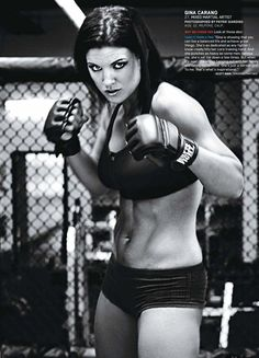 Gina Joy Carano - Fitness Model Fabric Art Cloth Poster x Decor 19 Female Mma Fighters, Ufc Fighters, Female Fighter, Martial Arts Women, Mixed Martial Arts, Muay Thai, Fit Girl, Poses References, Action Poses