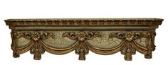 Olde World Cornice Box Style Ornate Swag Design Bed Crown, Verona Finish Tuscan, Windows, Tuscan Style, Cornice Box, Window Coverings, Tuscan Decorating, Mediterranean Home Decor, Bed Crown, Bunk Bed Accessories