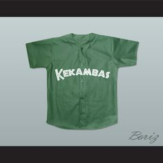 "Jamal 10 Kekambas Baseball Jersey Hardball Dark Green. STITCH SEWN GRAPHICS  CUSTOM BACK NAME CUSTOM BACK NUMBER ALL SIZES AVAILABLE SHIPPING TIME 3-5 WEEKS WITH ONLINE TRACKING NUMBER Be sure to compare your measurements with a jersey that already fits you. Please consider ordering a larger size, if you prefer a loose fit.  HOW TO CALCULATE CHEST SIZE: Width of your Chest plus Width of your Back plus 4 to 6 inches to account for space for a loose fit. Example: 18"" wide chest plus 18"" wide…"
