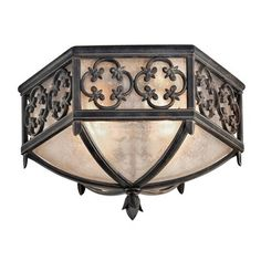 Fine Art Lamps 324882 2 Light Costa del Sol at ATG Stores. Marbella wrought iron finish, subtle iridescent textured glass. 16 W x 10 T. 304. Ordered from ATG Stores 3/4/15.