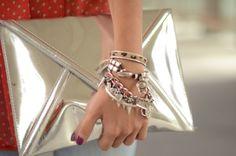 From the Lovely Pepa blog:  bag: h (au/w 11-12)  bracelets: El taller de Pepa + Mes petite details