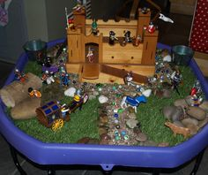The 100 Day Tuff Spot Challenge Castle Theme Classroom, Year 1 Classroom, Early Years Classroom, Classroom Themes, Castles Ks1, Knights And Castles Topic, Harry Birthday, Tuff Spot, Frog Theme