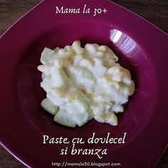 Paste cu dovlecel si branza Paste, Gluten, Food, Eten, Meals, Diet