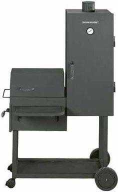 ce6104c2de 1 BRINKMANN - Smoke King Deluxe Heavy-Duty CharcoalWood Smoker & Grill
