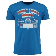 Edmonton Oilers Old Time Hockey 2015 Hockey Fights Cancer Crowell T-Shirt - Royal - $23.99