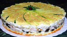 Слоеный салат-торт №1 в мире