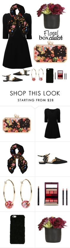 """""""Wake up and smell the flowers! featured : Floral Box Clutch"""" by im-karla-with-a-k ❤ liked on Polyvore featuring Franchi, Dolce&Gabbana, Temperley London, Vera Bradley, Kevyn Aucoin, women's clothing, women's fashion, women, female and woman"""