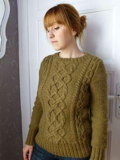 modele tricot pull irlandais femme gratuit