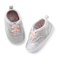 Carter's Glitter Sneaker Crib Shoes http://www.carters.com/carters-baby-girl-collections-camo/V_27392.html?dwvar_V__27392_color=Color#navID=header&start=3&cgid=carters-baby-baby-girl-accessories-shoes-and-slippers
