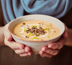 Enjoy a taste of Scotland in our warming soup with swede, potato and haggis topping. It's Burns Night in a bowl