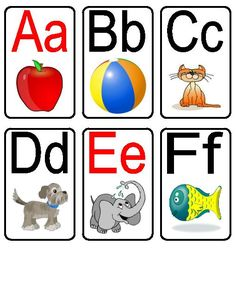 TeacherLingo.com $1.50 - Set of printable flashcards with each letter of the alphabet (capital and lower case). Vowels are in red. Very nice, vibrant pictures that help students learn beginning sounds and letter recognition.