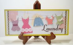Stampin' Up! Home Decor by Melissa D at RubberFUNatics: April Framed Art - Laundry