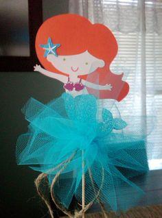 Adorable princesa sirena central Topper por ThePaperPartyBox