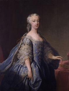 ca. 1738 Princess Amelia of Great Britain by Jean Baptiste van Loo (auctioned by Sotheby's) | Grand Ladies | gogm