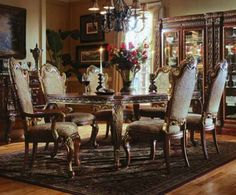 Formal Dining Room sets – Reasons Why Formal Tables Offer More than Just a Formal Ambience Antique Dining Room Sets, Oak Dining Room Set, Dining Room Suites, Diy Dining Room Table, Elegant Dining Room, Beautiful Dining Rooms, Dining Room Design, Dining Room Furniture, Furniture Stores