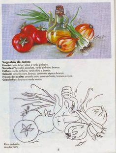 Pintura em Tecido Passo a Passo: PINTURA EM TECIDO RISCOS PARA COZINHA