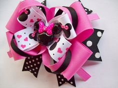 Inspired Minnie Mouse Boutique Hair Bow by JustinesBoutiqueBows