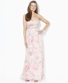 pale pink floral bridesmaid dress