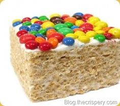 Image Search Results for decorating a rice crispy treat cake. Rice Krispie Bars, Krispie Treats, Rice Krispies, Chocolate Buttons, Rice Crispy Treats, Yummy Food, Tasty, Fall Treats, Perfect Food
