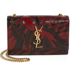 9b3eef40aed5 Free shipping and returns on Saint Laurent Small Kate Metallic Floral  Crossbody Bag at Nordstrom.