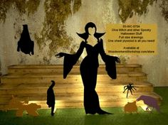 05-WC-0704 - Diva Witch and other Spooky Stuff Halloween Yard Woodworking Drawings - one sheet of plywood is all you need! #diy #woodcraftpatterns